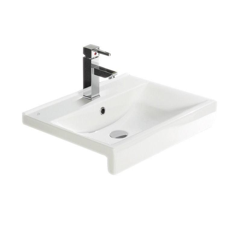 Cerastyle By Nameeks Riva B Ceramic Rectangular Drop In Bathroom Sink With Overflow Walmart Com Walmart Com