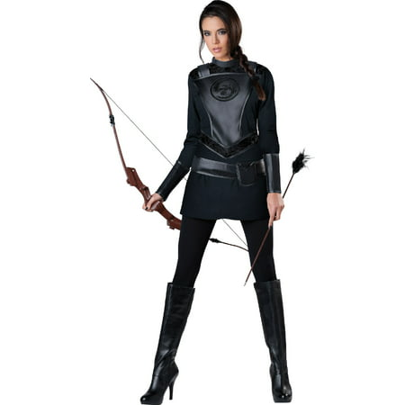 Womens Warrior Huntress Costume - S](Hooded Huntress Child Costume)