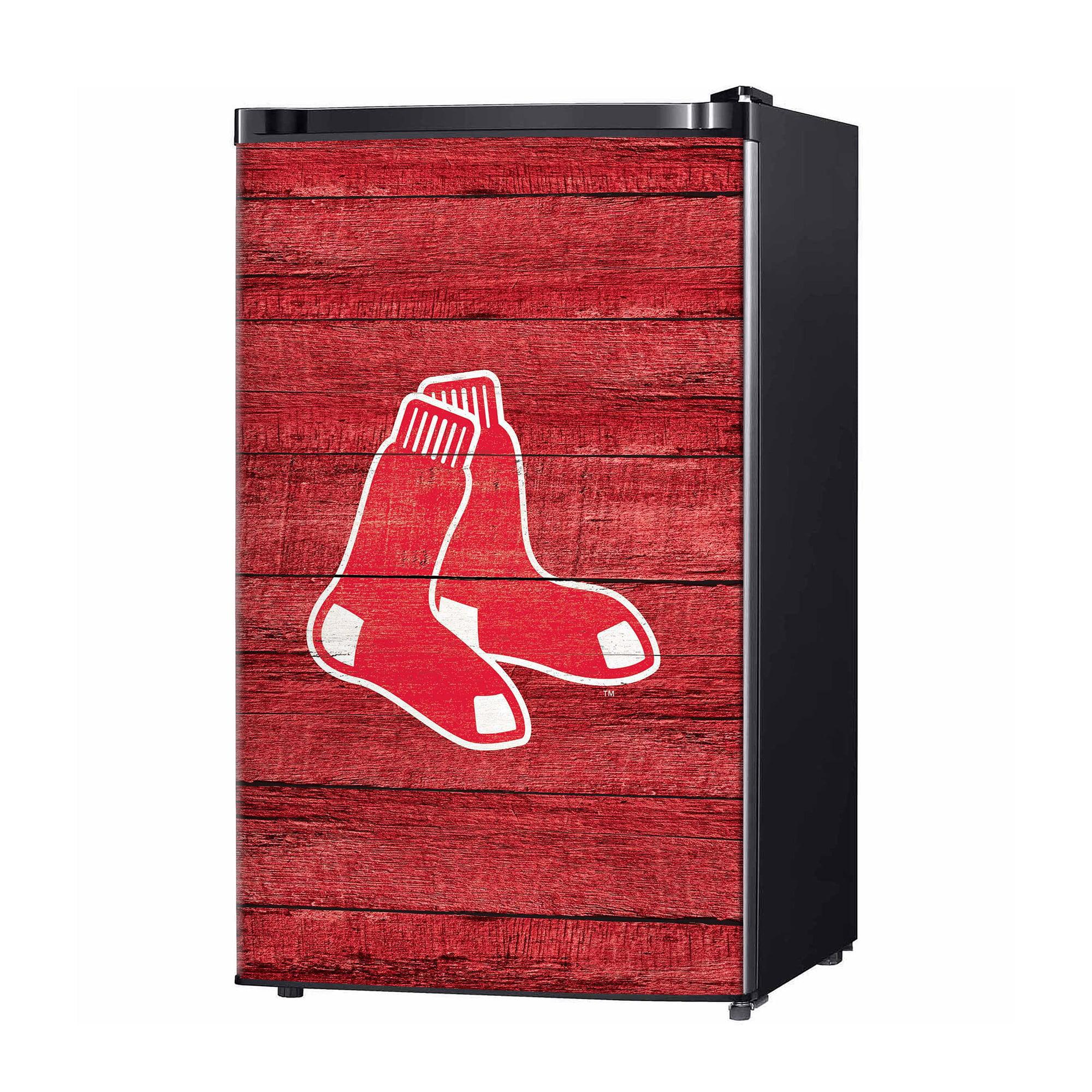 Boston Red Sox Wood Logo Fridge Skin