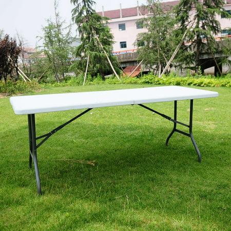 Ktaxon 6 FT Folding Table Office Centerfold Plastic Home Patio Party Garden (Plastic Patio Tables)