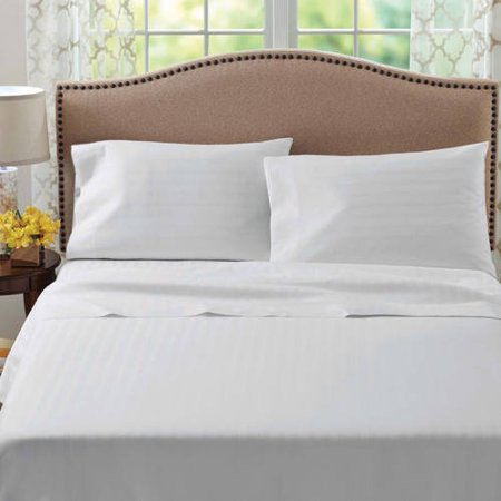 Better Homes And Gardens 400 Thread Count Egyptian Cotton Damask Flexi Fit Sheet Set
