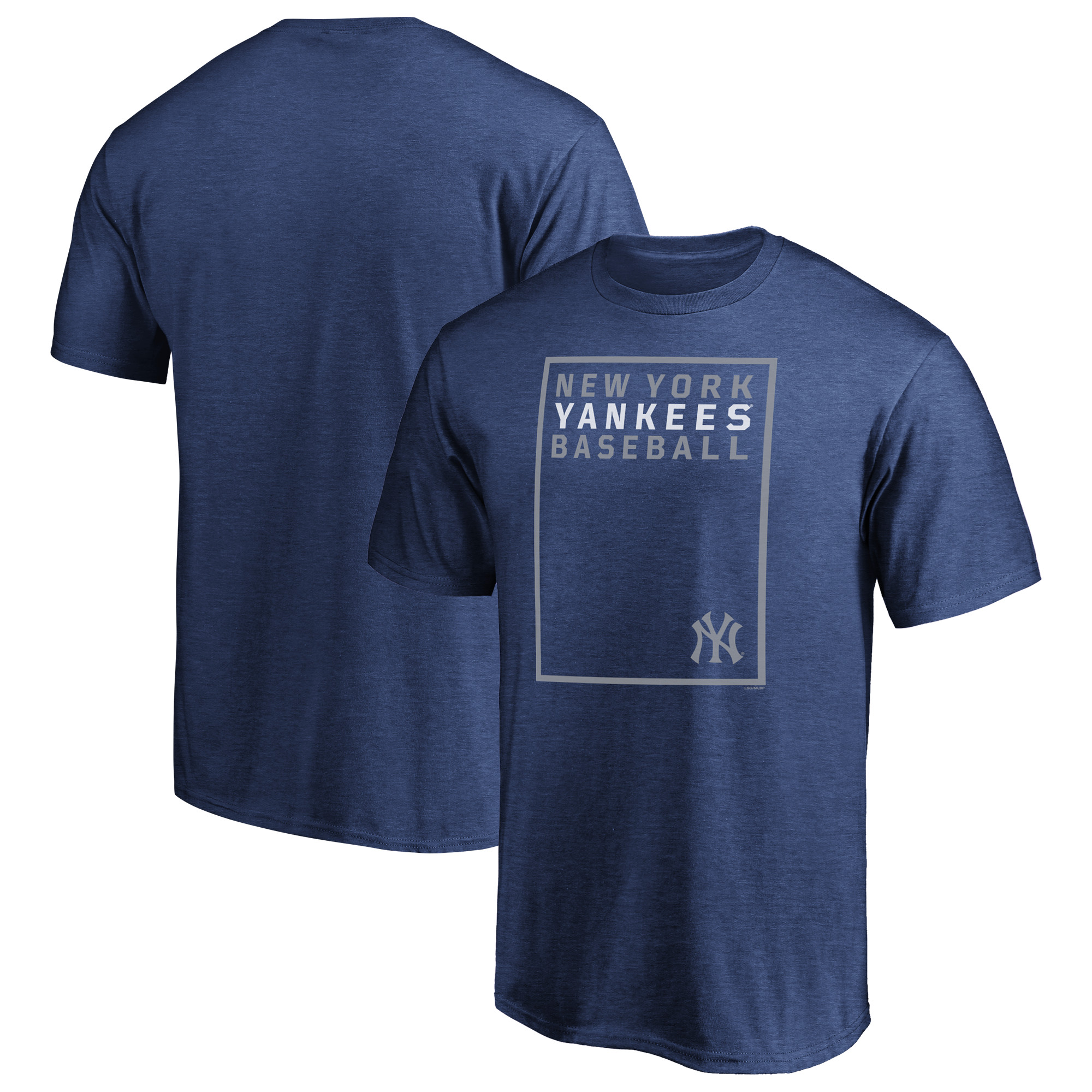 Men's Majestic Navy New York Yankees On the Grid T-Shirt
