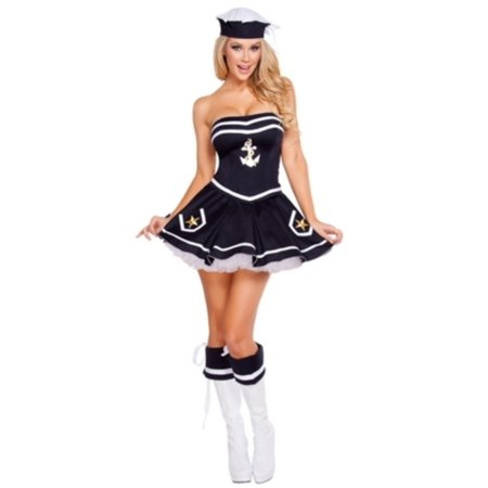 Naughty Navy Yard Vixen Costume Roma Costume 4580 Navy](Halloween Naughty)