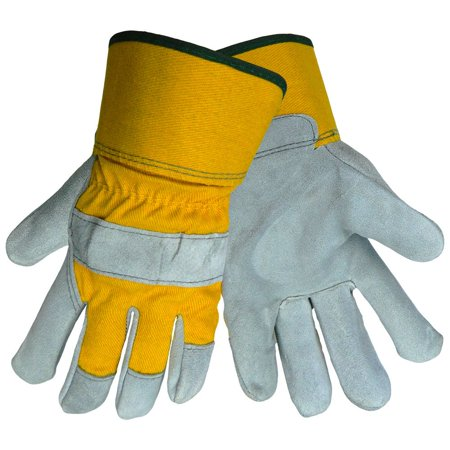 CLC COTTON CANVAS WORK GLOVES WITH PVC GRIPPER DOTS LARGE per 7 Pack