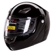 IV2 Elite Series: 936 Bluetooth Compatible Modular Flip Up Gloss Black Motorcycle Helmet [DOT] (XX-L