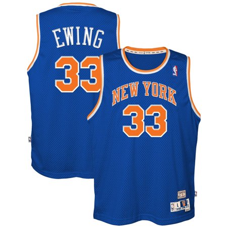 4f5601d65b3 Patrick Ewing New York Knicks Mitchell   Ness Youth Hardwood Classics  Swingman Throwback Jersey - Blue - Walmart.com