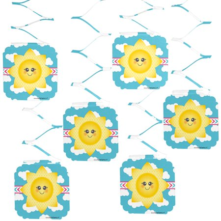 You Are My Sunshine - Baby Shower or Birthday Party Hanging Decorations - 6 Count