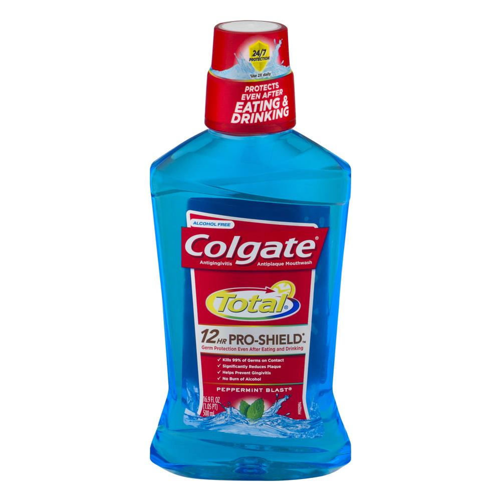 Colgate Total 12HR Pro-Shield Mouthwash Peppermint Blast, 16.9 FL OZ
