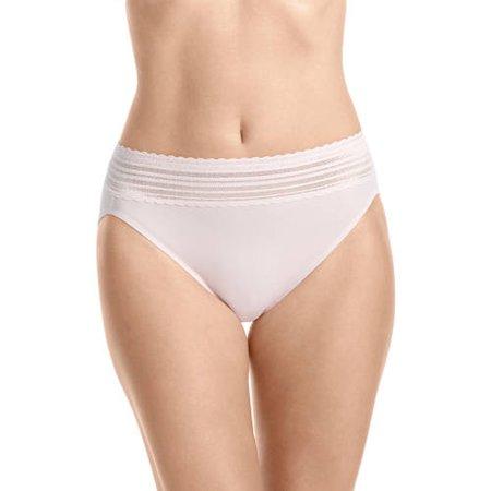 969b5f9b5 Warner s - Women s no pinching. no problems. lace hi-cut brief panty - style  5109j - Walmart.com