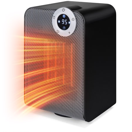 Best Choice Products 1500W Portable Compact Oscillating Desktop Space Heater for Home, Office w/ Fan, Adjustable Digital Thermostat Display, 12-Hour Timer, Auto Shut Off, 3 Second Heat Up (Best Wax Heater For Home)
