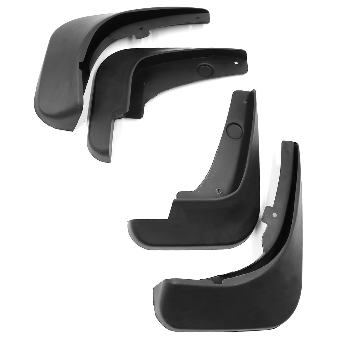 Unique Bargains 4PCS Black Plastic Mud Flaps Splash Guard Mudguard Set for Chevrolet Cruze