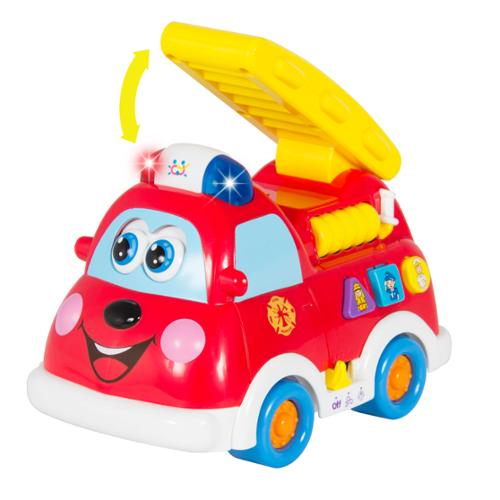 Fire Truck Toy with Lights and Sirens, Bump'n'Go, Teaching (English and Spanish)