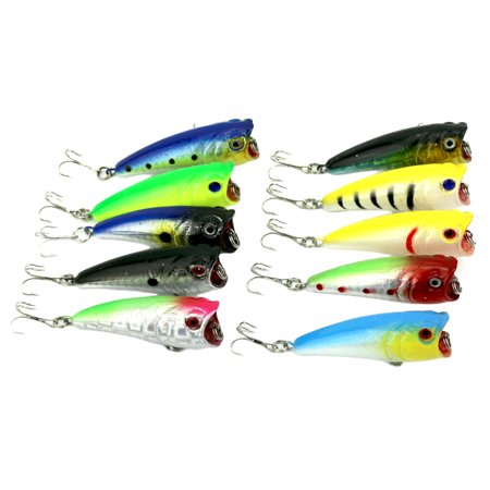Topwater Popper Floating Trolling Fishing Lures Hard Baits Hook Tackle for Freshwater &Saltwater (1pcs)