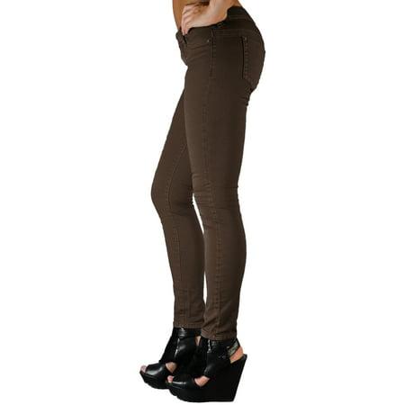 S & P Women's Premium Color Stretch Denim Skinny Jeans
