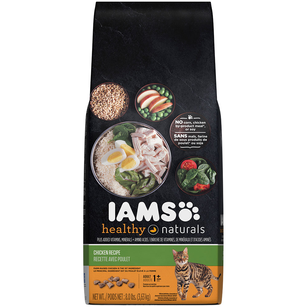 IAMS Healthy Naturals Chicken Recipe Dry Cat Food 8 Pounds