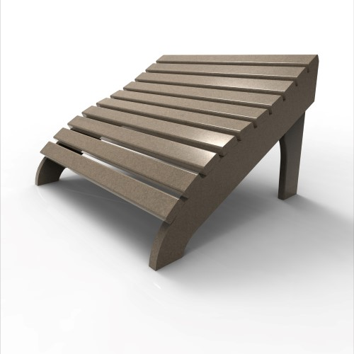 Contour Footstool by Malibu Outdoor, Weathered Wood