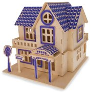 Family Home House Building Model Kit Wooden 3D Puzzle