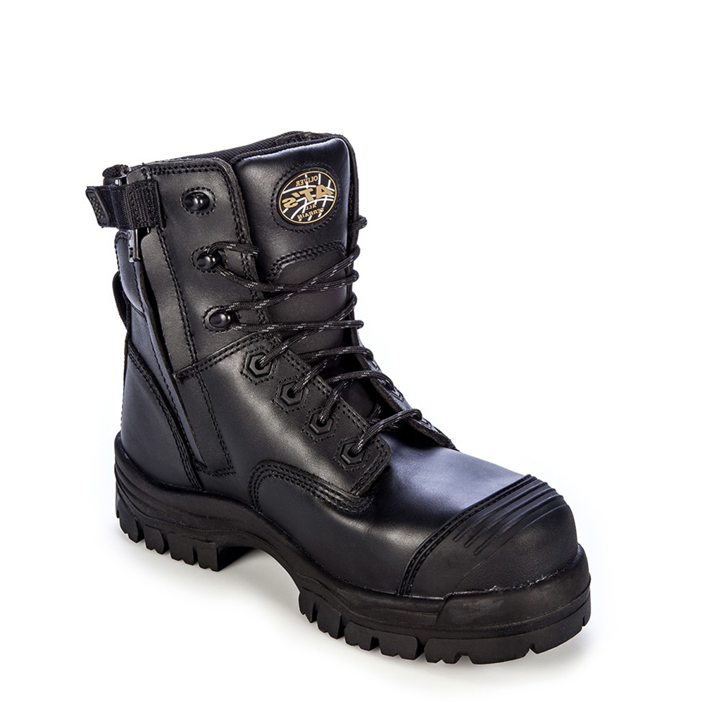 d6c7ed41ca0 Oliver Men's 6'' 45 Series Zip Up Chemical Resistant Work Boots Black  Leather TPU 9.5 M