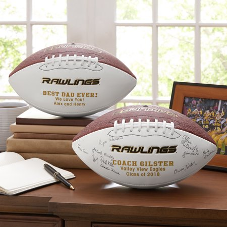 Personalized Rawlings Leather - Personalized Plastic Footballs