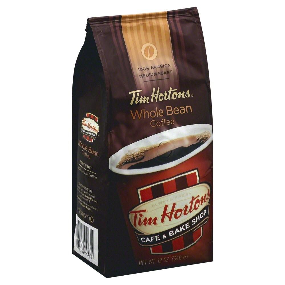 Tim Hortons Medium Roast Whole Bean Coffee, Original, 12 Oz