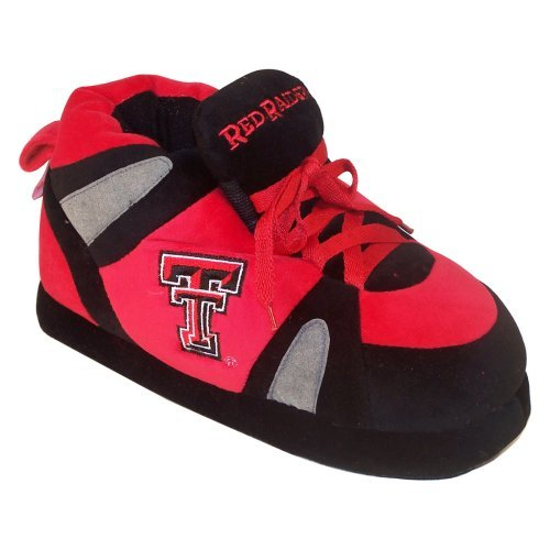 Comfy Feet NCAA Sneaker Boot Slippers - Texas Tech Red Raiders