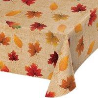 "Fall Leaves 90"" x 52"" Vinyl Tablecloth"