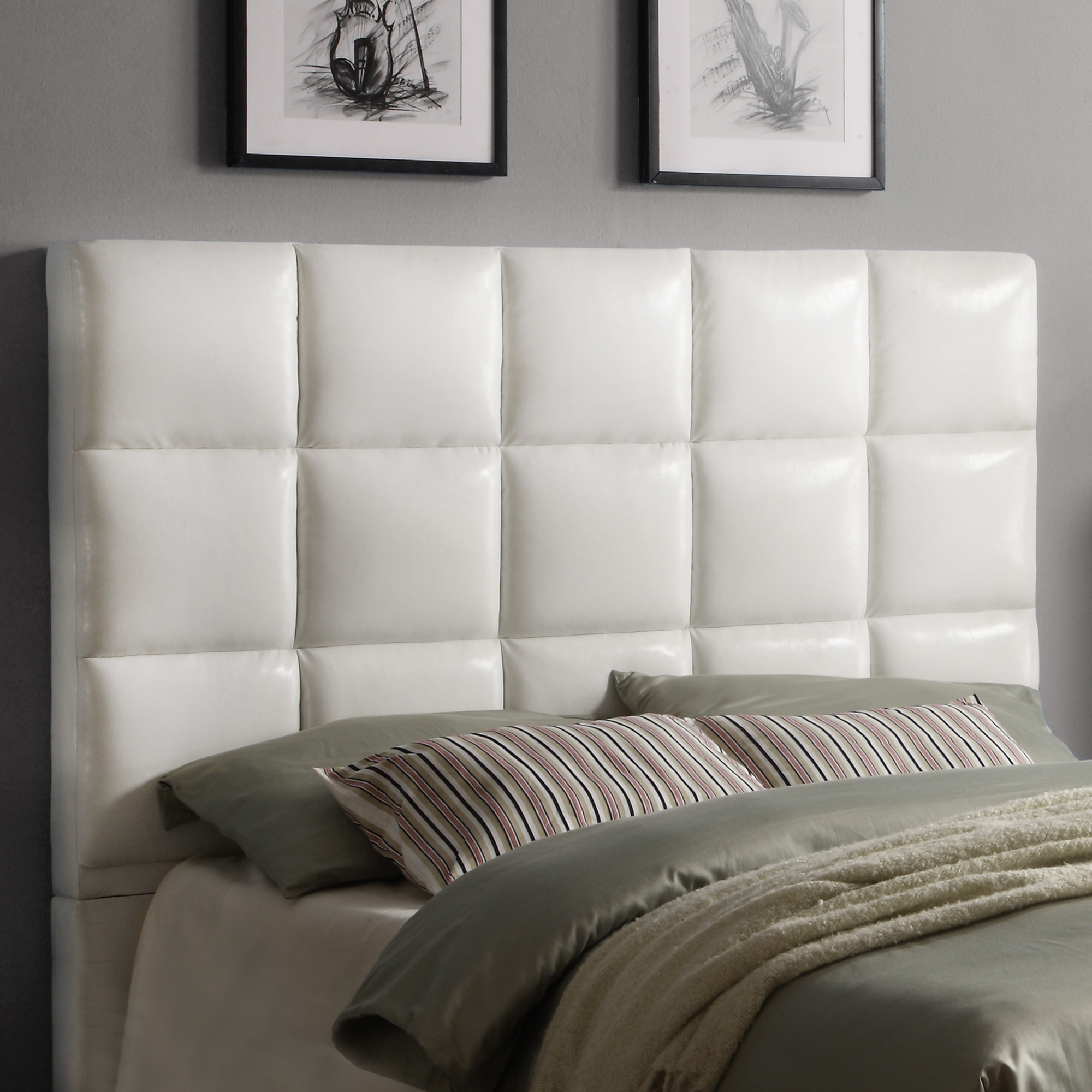 Weston Home Curtis Queen Tufted Headboard, Multiple Colors