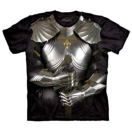 Black 100% Cotton Body Armor Realistic Graphic T-Shirt (Graphite Body)