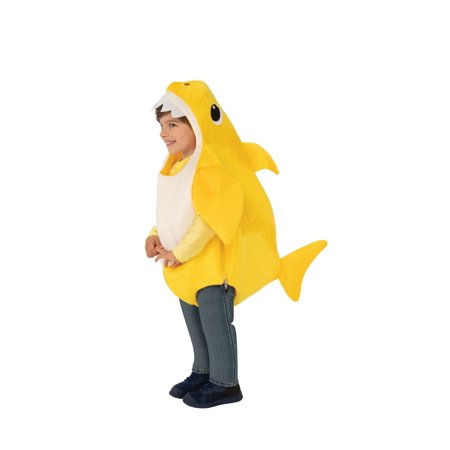 Family Halloween Costumes With A Baby (Rubies Costume Company Baby Shark Yellow Toddler Halloween)