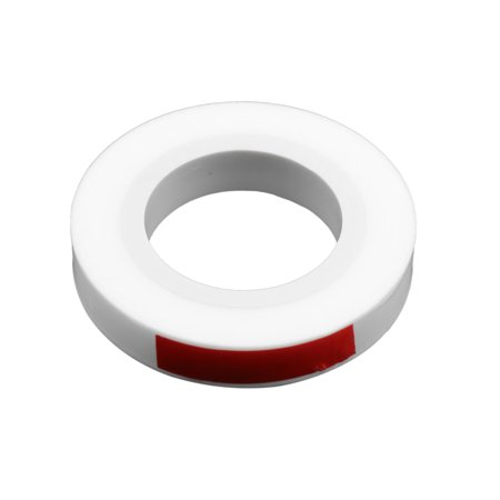 White Heat Resistant Adhesive PTFE Insulating Seal Tape 0.05 x 10mm x 30m