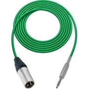 1Pc Sescom SC1.5XSZGN Audio Cable Canare Star-Quad 3-Pin XLR Male to 1/4 TRS Balanced Male Green - 1.5 Foot
