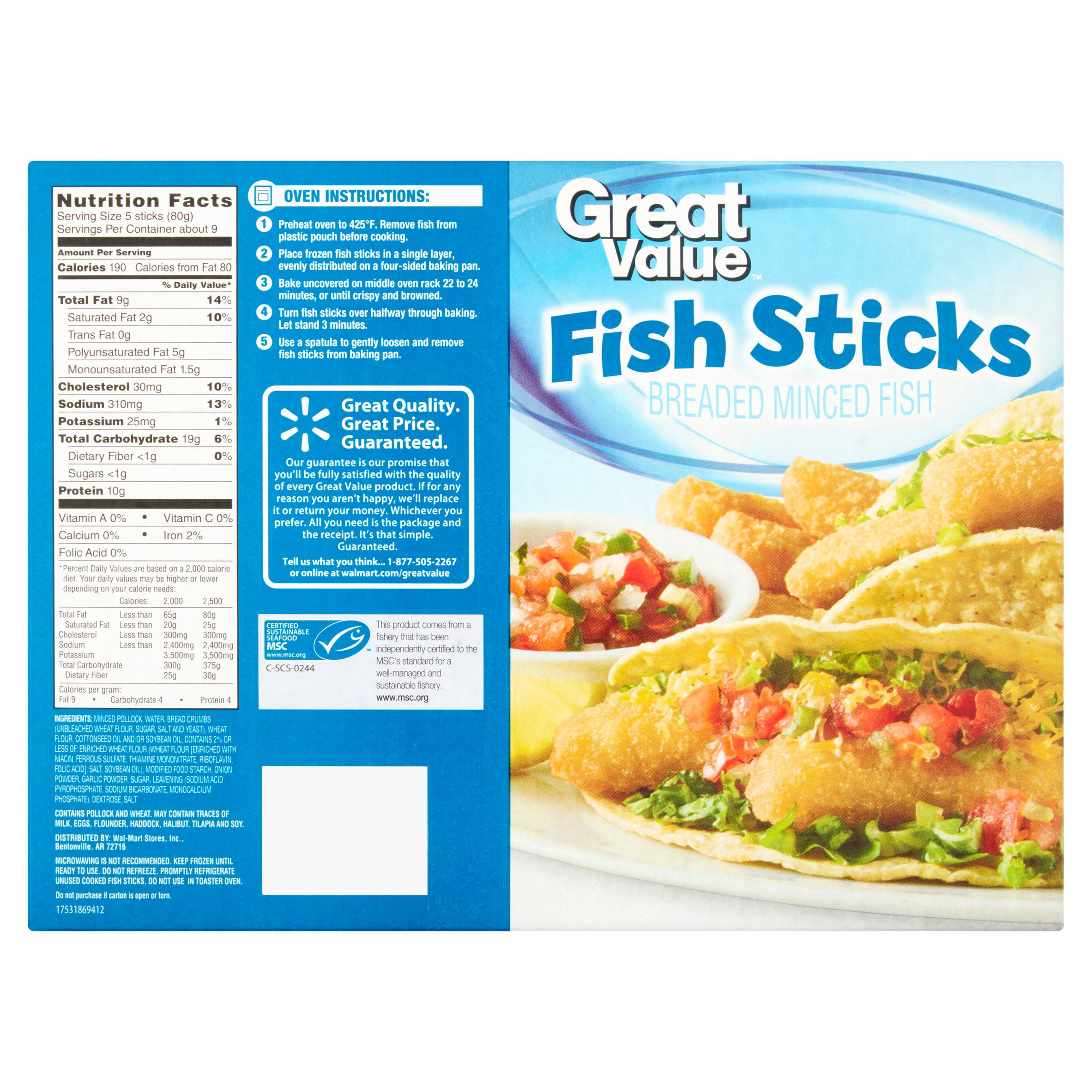 how long to cook frozen fish sticks in microwave