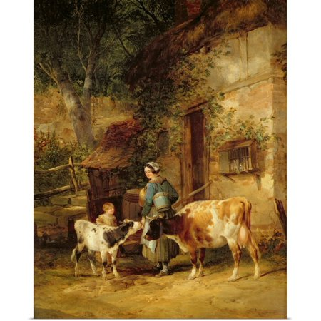 Adult Milkmaid (Great BIG Canvas | Rolled William Shayer Poster Print entitled The Milkmaid,)