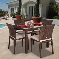 Atlantic  Liberty Wicker 5 piece Square Dining Set with Cushions