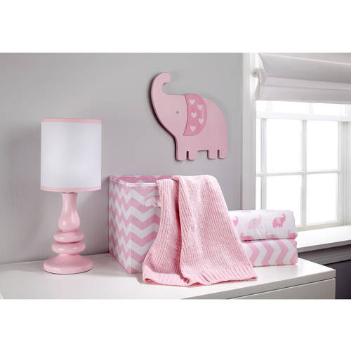 Pink//White Little Love by NoJo Separates Collection Chevron Print Crib Liner