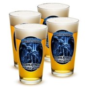 Patriotic 16 oz. Pint Glass You Will Never Be Forgotten (Set of 4) by Erazor Bits
