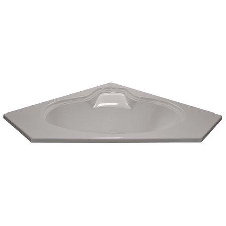 American Acrylic 60'' x 60'' Soaker Corner Oval Bathtub ()