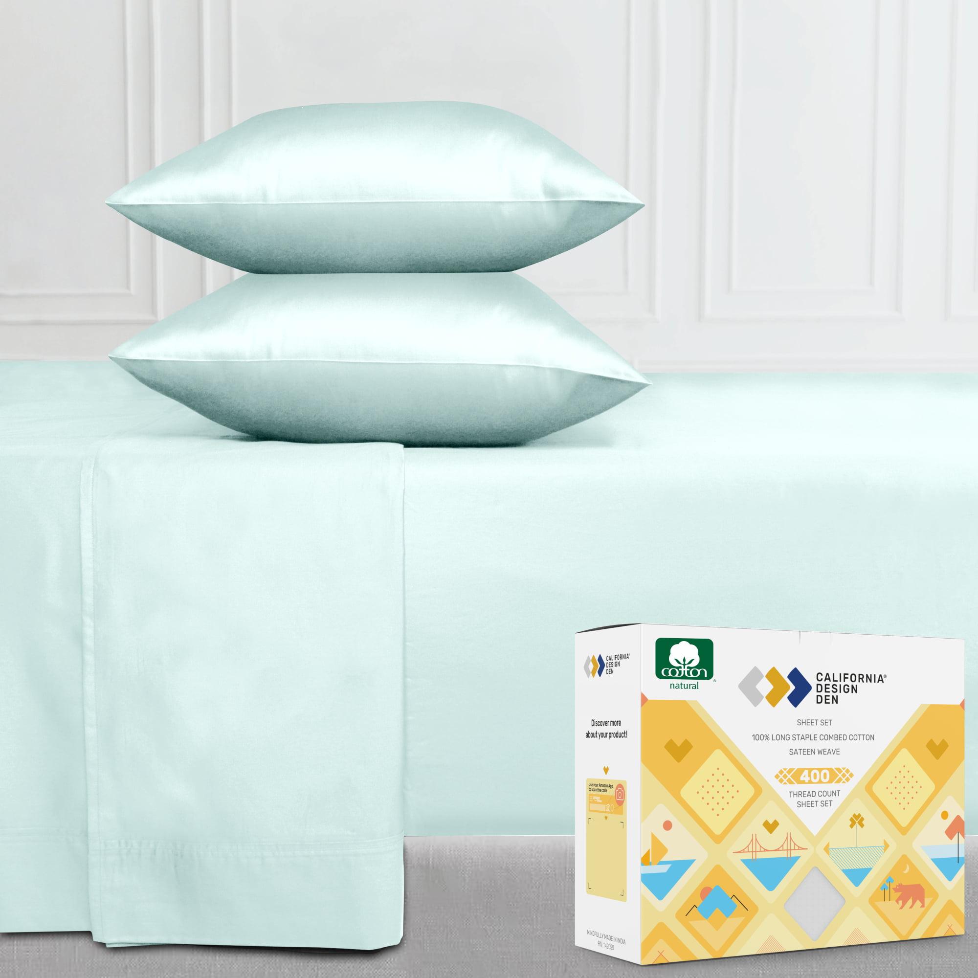 Pure White King California Design Den 400 Thread Count 100/% Cotton Pillowcases