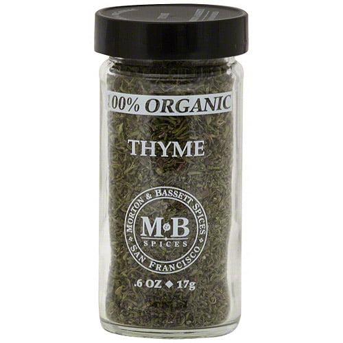 Morton & Bassett Spices Thyme, 0.6 oz (Pack of 3)