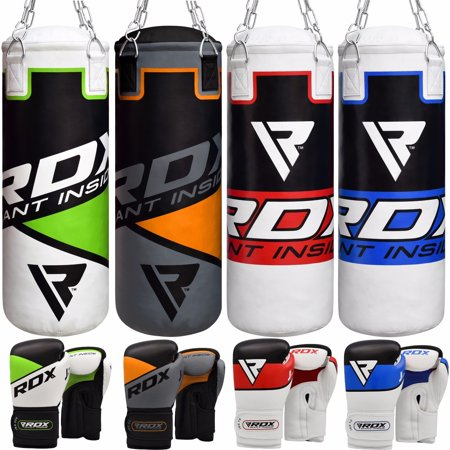 RDX Kids Punching Bag Junior Boxing Gloves Youth Heavy Filled Leather