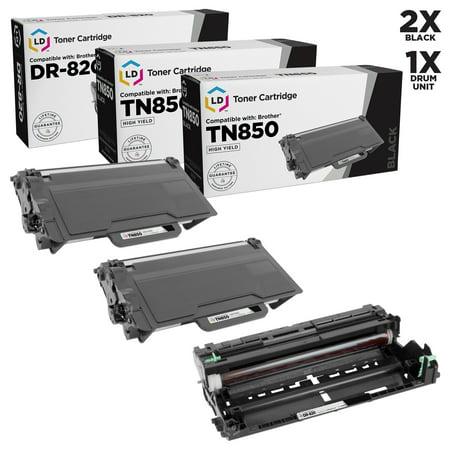 Blk Compatible Drum - LD Compatible Brother TN850 / DR820 (2 Toners & 1 Drum) 3PK for DCP-L5500DN, DCP-L5600DN, DCP-L5650DN, HL-L5000D, HL-L5100DN, HL-L5200DW, HL-L5200DWT, HL-L6200DW, MFC-L5850DW, MFC-L5900DW
