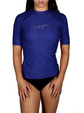Adoretex Women's Plus Size Rashguard UPF 50+ Swimwear Swim Shirt (RS006P) - Navy - 1X