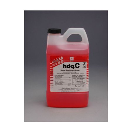 Spartan Clean on the Go 2 HDQ C Neutral Disinfectant, 2 Liter Bottle, 4 Bottles Per Case](Spartan Wholesale)