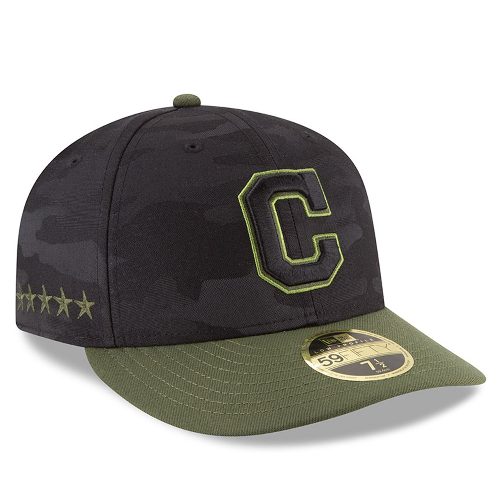 Cleveland Indians New Era 2018 Memorial Day On-Field Low Profile 59FIFTY Fitted Hat - Black