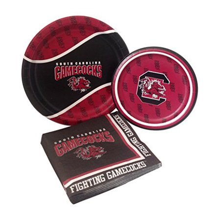 University of South Carolina Party Supply Pack! Bundle Includes Paper Plates & Napkins for 8 Guests - University Of Alabama Party Supplies