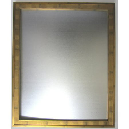 """Image of Classic Collection Roughed Gold Framed Beveled Glass Mirror, 28"""" x 40"""""""