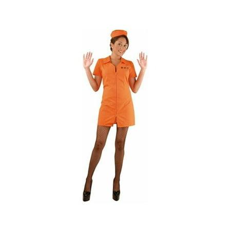 Adult Women's D.O.C. Prisoner Costume (Prisoner Costume Women)