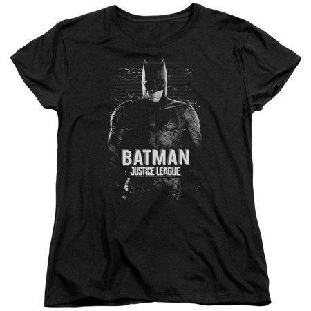 Justice League Movie Batman Womens Short Sleeve Shirt