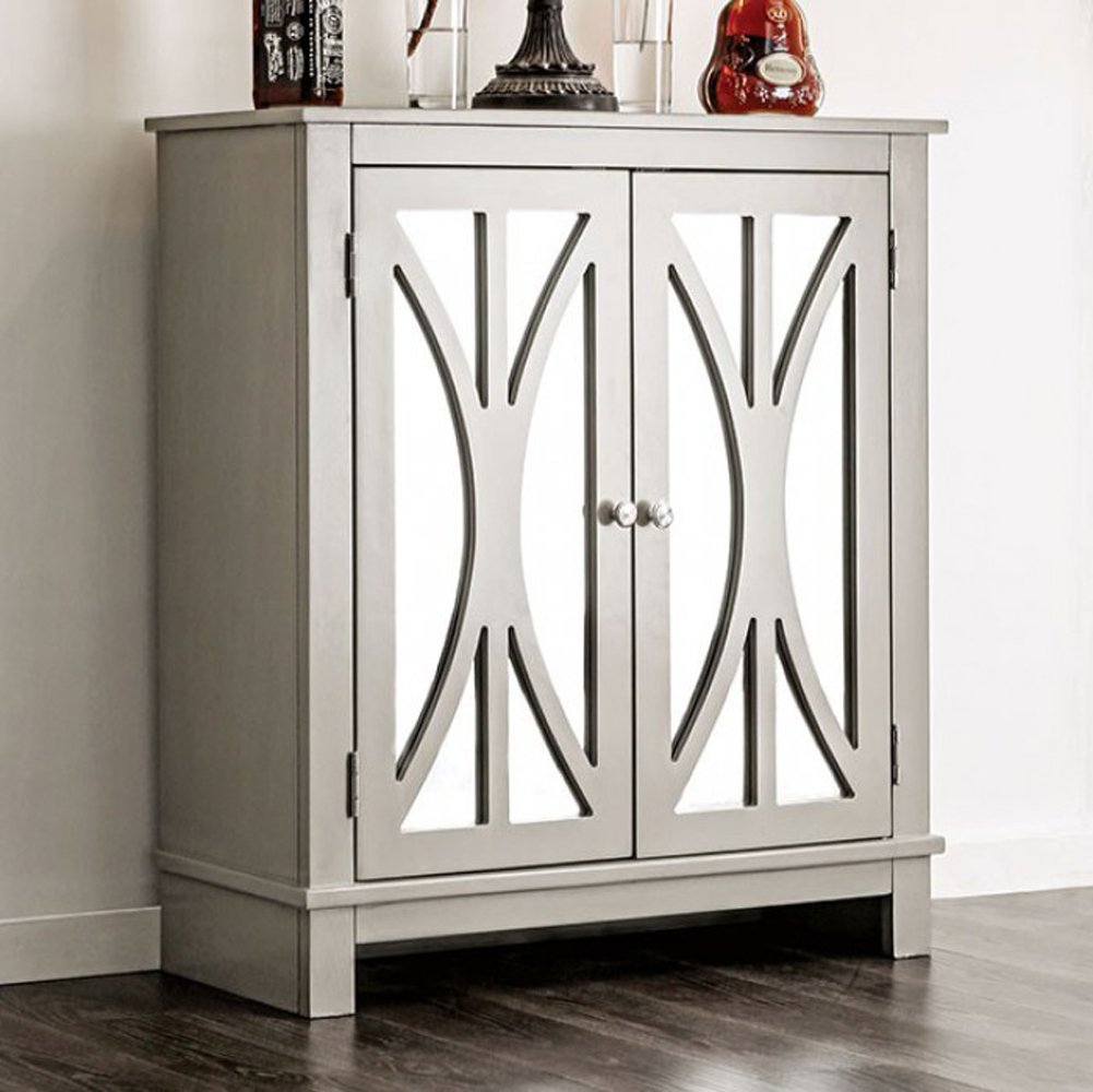 Tayla Contemporary Hallway Cabinet, Gray by Benzara