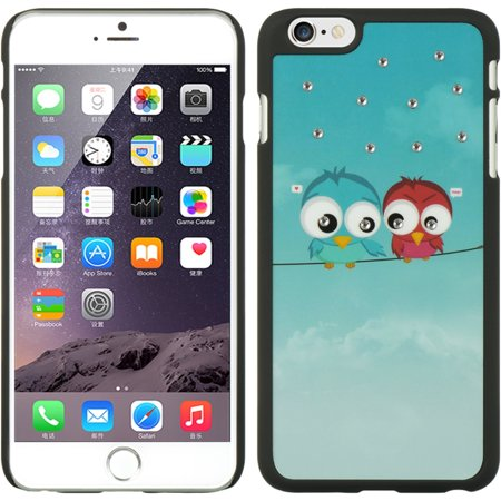 Insten Owl Rubberized Hard Snap-in Case Cover For Apple iPhone 6 Plus - (Runcam Owl Plus Best Settings)